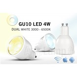 GU10 LED spot Mi-Light 5W Dual White. 220V. Halogeenvervanger op afstand bedienbaar