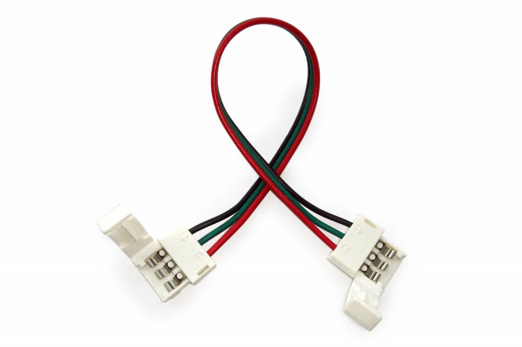 Flexibele connector voor 3-polige 10mm Dual White LED strips, soldeervrij.