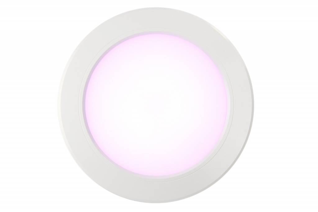 LED Inbouwspot Mi-Light 12W RGBWW Kleur + Dual White 220V. Satijn Wit ⌀180mm