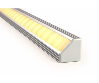 LED strip hoekprofiel 45 graden 2 meter, type 1919 incl. mist cover