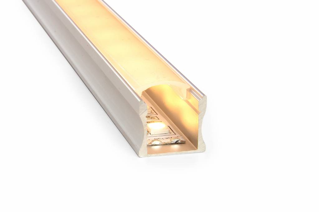 LED strip profiel 2 meter, type 1715 incl. mist cover