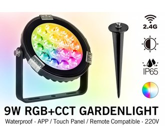 Mi·Light Mi-Light 9W RGBWW 220V LED Tuinspot Verlichting IP65