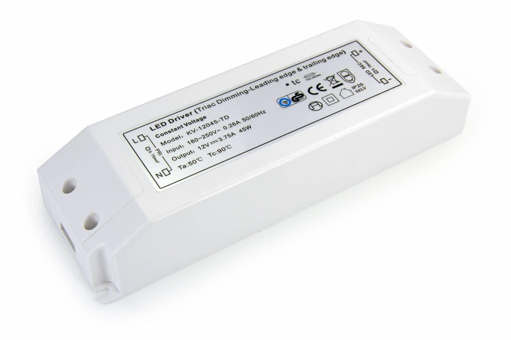 Dimbare Voeding DC 24 Volt 45 Watt 1,85 Ampère