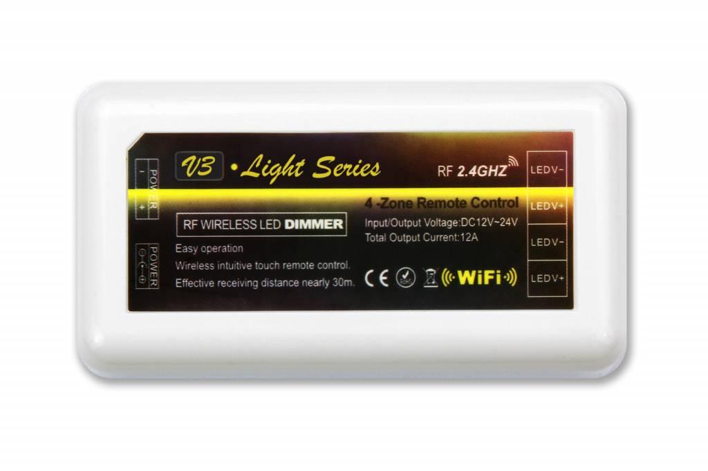 Mi·Light Extra Warm Wit Led Strip met afstandsbediening | Dubbele rij 120 Leds pm Type 5050 12V 28,8W pm