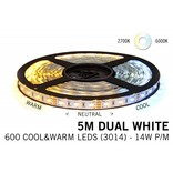 Mi·Light Dual White Led Strip met afstandsbediening | 120 Leds pm Type 2835 12V 14,4W pm