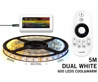 Mi·Light Dual White Led Strip | 120 Leds pm 14,4W pm met afstandsbediening