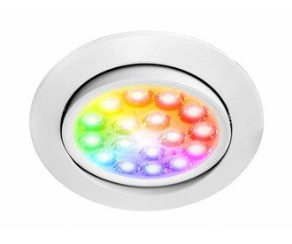 Mi-Light 9W RGBWW Kleur + Dual White LED Inbouwspot 220V. Kantelbaar