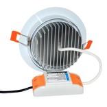 Mi·Light LED Inbouwspot Mi-Light 9W RGBWW Kleur + Dual White 220V. 30° Kantelbaar. Wit ⌀135mm