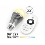 2 Wifi LED Lampen met Afstandsbediening Mi-Light 9W Dual White E27