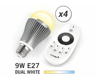Mi·Light Mi-light 9W Dual White E27 Set van 4 Wifi LED Lampen