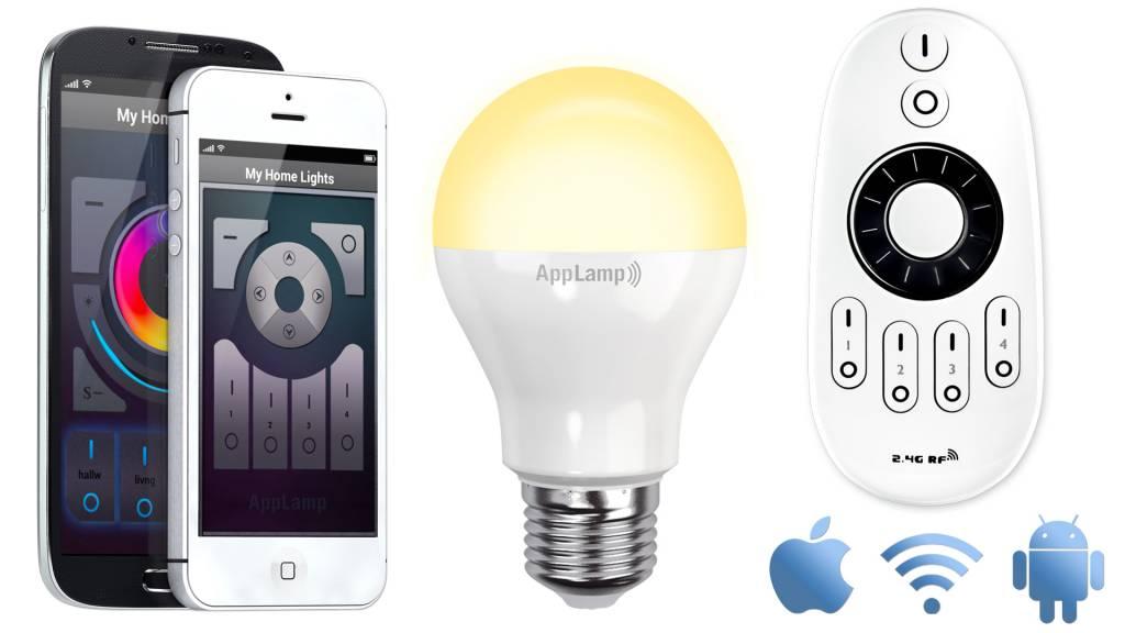 Wifi LED Lamp met Afstandsbediening Mi-Light 6W Dual White E27. Starterskit & Wifi Box