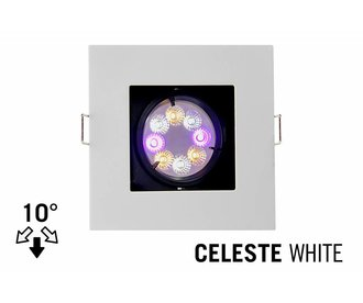 Mi·Light GU10 LED Inbouwspot Armatuur CELESTE. Verdiept Vierkant. 10° Kantelbaar