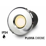Mi·Light GU10 LED Inbouwspot Armatuur PLUVIA. IP54 Spatwaterdicht. Glanzend Chroom. Rond Ø85mm