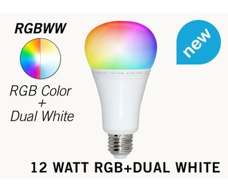 Mi·Light 12Watt RGBWW MiLight RGB+Dual White LED lamp