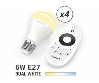 Mi·Light Mi-light 6W Dual White E27 Set van 4 Wifi LED Lampen