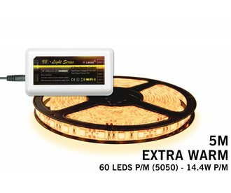 Mi·Light Extra Warm Wit Led Strip | 60 Leds pm 14,4W pm IP65 uitbreidingset