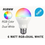 Mi·Light Set met 6W RGBWW Kleur + Dual White Mi-Light LED lampen met Afstandsbediening