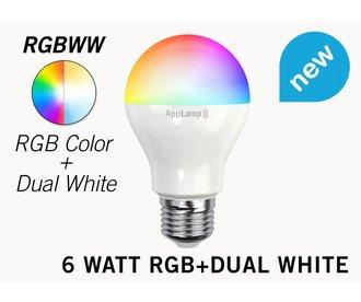 RGB+Dual White 6 Watt LED lamp