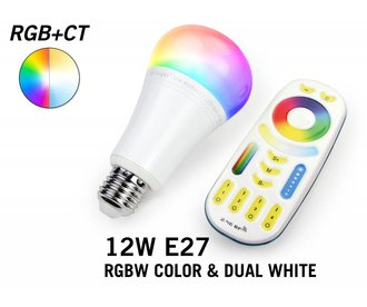 Mi·Light RGBW & Dual White 12W LED Lamp. Dimbaar. Met RF Afstandsbediening