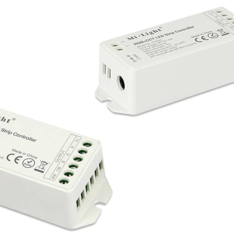 RF RGB Kleur+Dual White (CT) 1-zone Controller *Nieuw* met RF afstandsbediening 5x6A