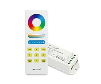 Mi·Light RGBWW  / RGB+CCT RF Controller met Afstandsbediening 1 zone | 12-24 Volt 15A