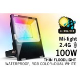 Mi·Light LED Breedstraler Mi-Light 100W RGBW Kleur+Dual Wit