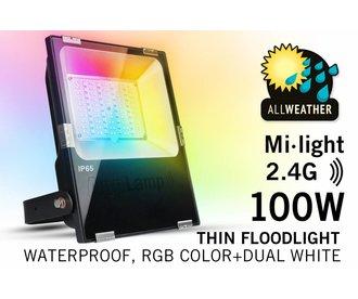 Mi·light 100W RGBWW Kleur+Dual Wit schijnwerper