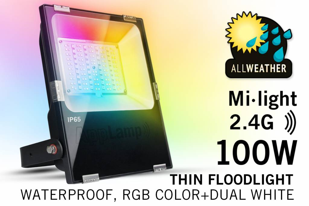 LED Breedstraler Mi-Light 100W RGBW Kleur+Dual Wit