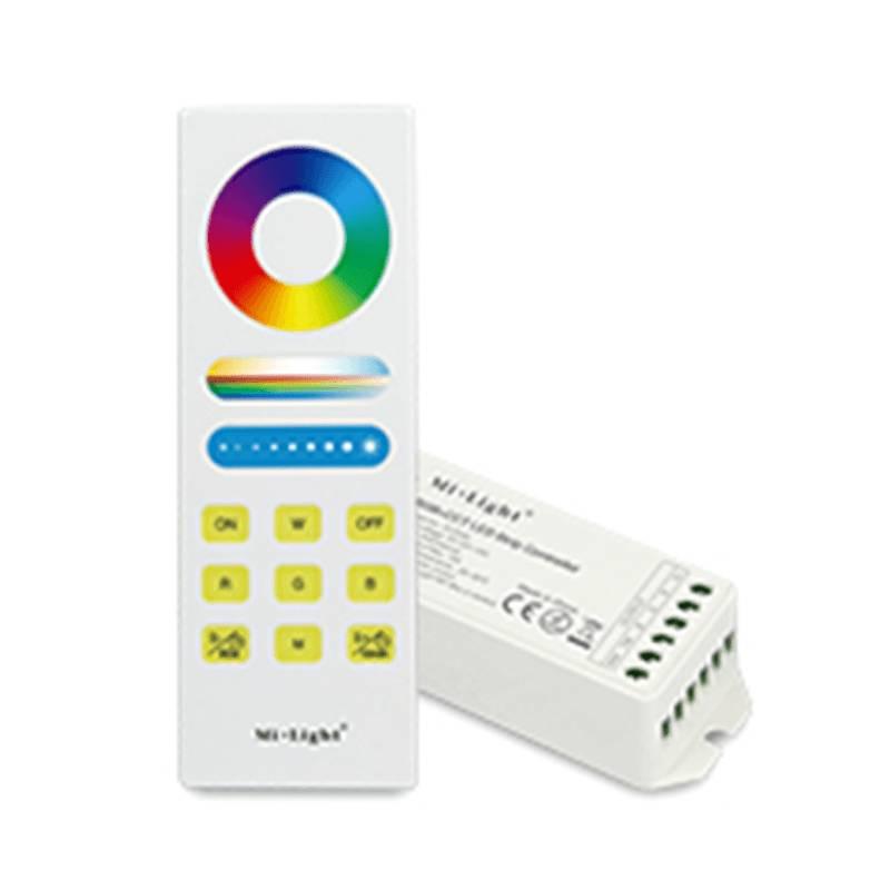 Mi·Light RF RGBW 1-zone Controller *Nieuw* met RF afstandsbediening 4x6A