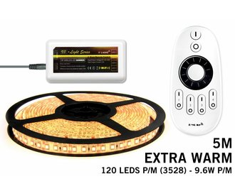 Mi·Light Extra Warm Wit Led Strip | 120 Leds pm 7,6W pm met afstandsbediening