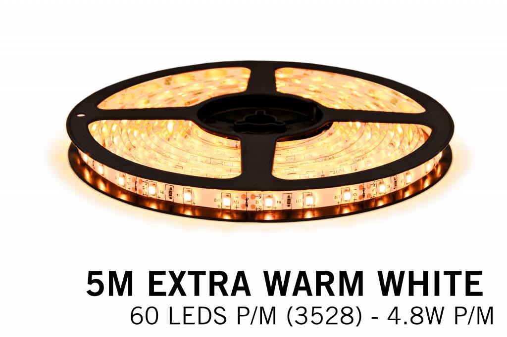 Mi·Light Dimbare LED strip set Extra Warm Wit 5M. 300 leds - 24W 12V IP65 5M, RF dimbaar