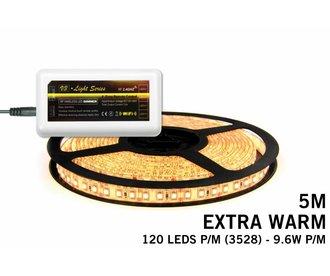 Mi·Light Extra Warm Witte LED strip met 600 type 3528 leds 48W 12V 5M - Uitbreidingsset