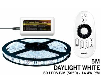Mi·Light Koel Wit Led Strip | 60 Leds pm 14,4W pm IP65 met afstandsbediening