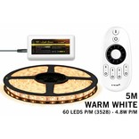 LED strip set, RF dimbaar, warm wit, 5 m. 300 leds type 3528 - 24W - 12V