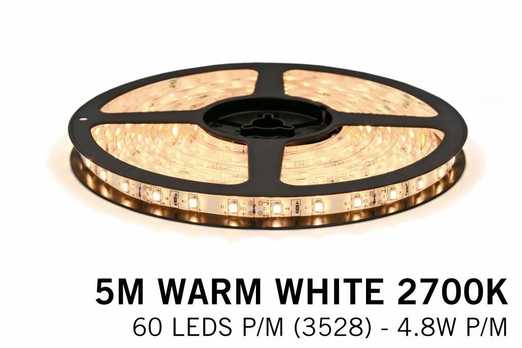 Mi·Light Warm Wit Led Strip met afstandsbediening | 60 Leds pm Type 3528 12V 4,8W pm