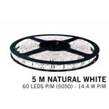 LED strip set Neutraal wit 300 leds 72W 12V 5M - Uitbreidingsset
