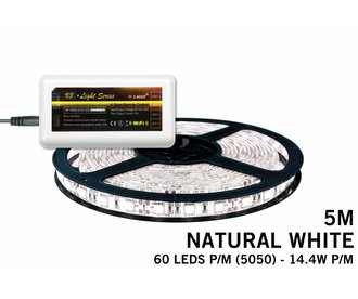 Mi·Light Neutraal Wit Led Strip | 60 Leds pm 14,4W pm IP65 uitbreidingset