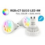 Mi·Light Mi-Light 4W Dimbaar RGBWW Kleur + Dual White GU10 LED Spot 220V