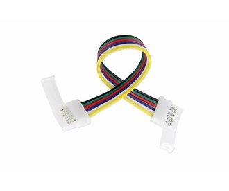Flexibele Connector| 6 Contacten voor 12mm RGBWW  / RGB CCT Led Strips