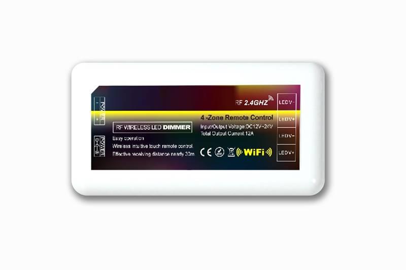 Mi·Light Koel Wit Led Strip uitbreidingsset met controller en adapter | 60 Leds pm Type 5050 12V 14,4W pm IP65