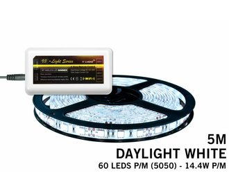 Mi·Light Koel Wit Led Strip | 60 Leds pm Type 5050 14,4W pm IP65 uitbreidingset