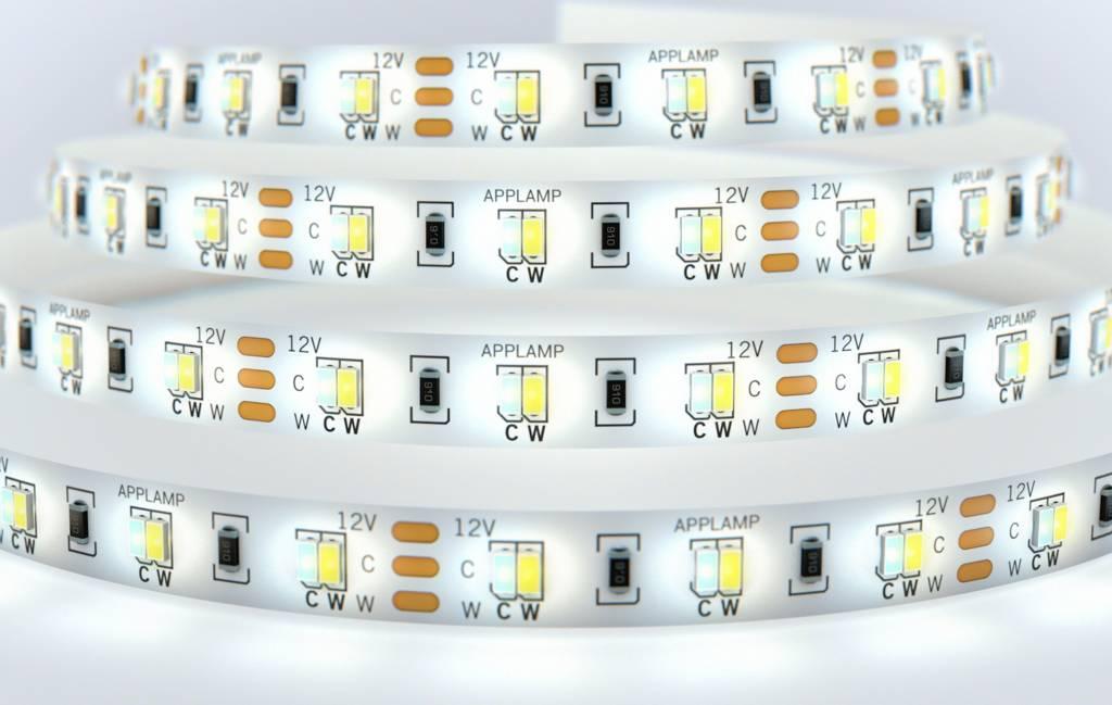 Dual White LED strip set 600 X 2835 leds Variabele kleurtemperatuur 72W 12V - Uitbreidingsset