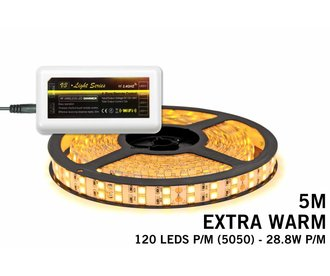 Mi·Light Extra Warm Wit Led Strip | 5m 120 Leds pm IP65 uitbreidingset