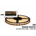 Mi·Light Warm Wit Led Strip uitbreidingsset met controller en adapter | 60 Leds pm Type 3528 12V 4,8W pm