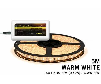 Mi·Light Warm Wit Led Strip | 60 Leds pm Type 3528 12V 4,8W pm uitbreidingset