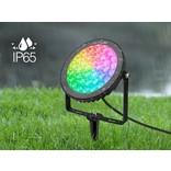 Mi-light 15W RGBWW 220V IP65 LED Prikspot Tuin.  RGB Kleur +Dual White