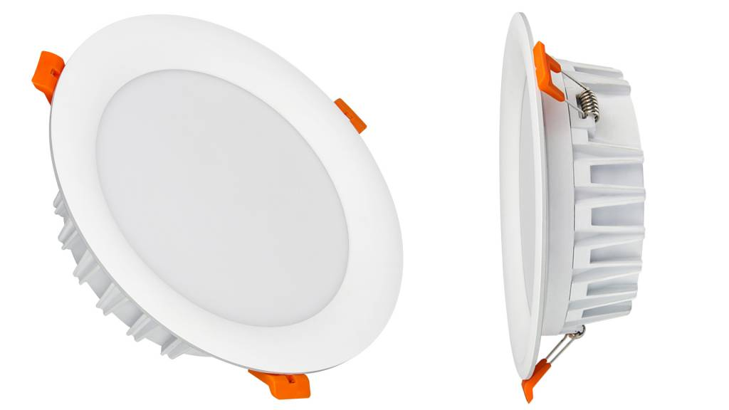 Mi·Light Mi-Light Set 18Watt Dimbaar RGBWW Kleur + Dual White LED Inbouwspot 220V + Afstandbediening. Mat Wit. Rond Ø180mm