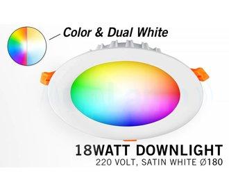 Mi-Light 18W RGBWW Kleur + Dual White LED Inbouwspot