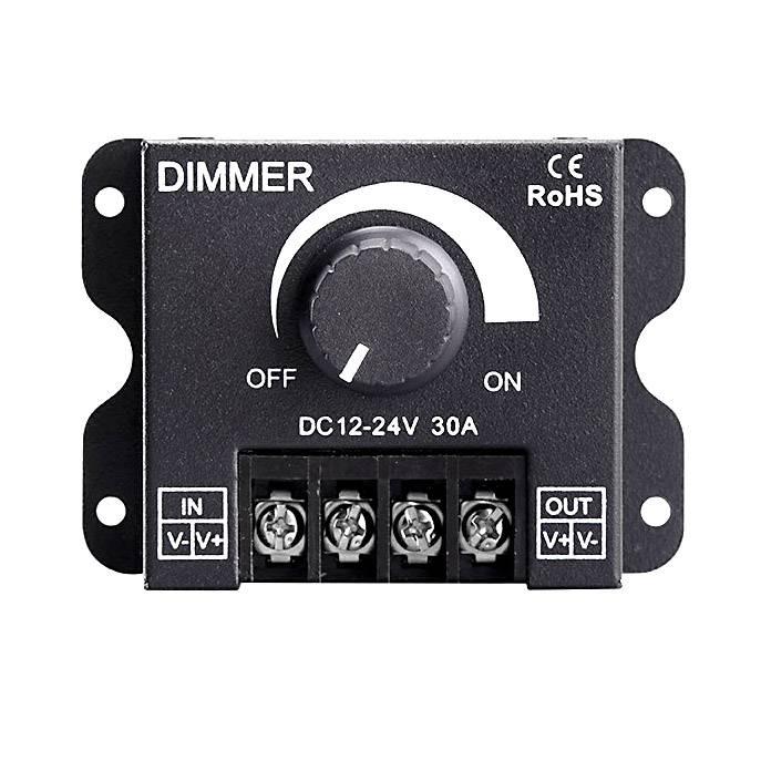 30 Ampère  Hoog vermogen 12-24V digitale LED dimmer met draaiknop