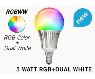 Mi-light 5W RGB+Dual White E14 Wifi LED Lamp